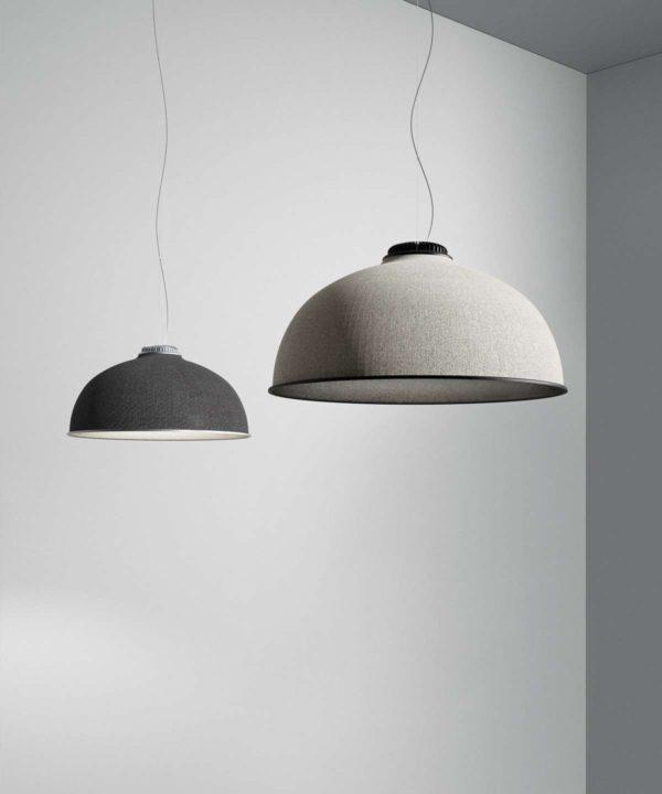 lampara de techo de diseño tapizada